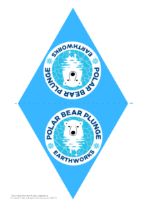 Print and cut out Polar Bear Plunge bunting!